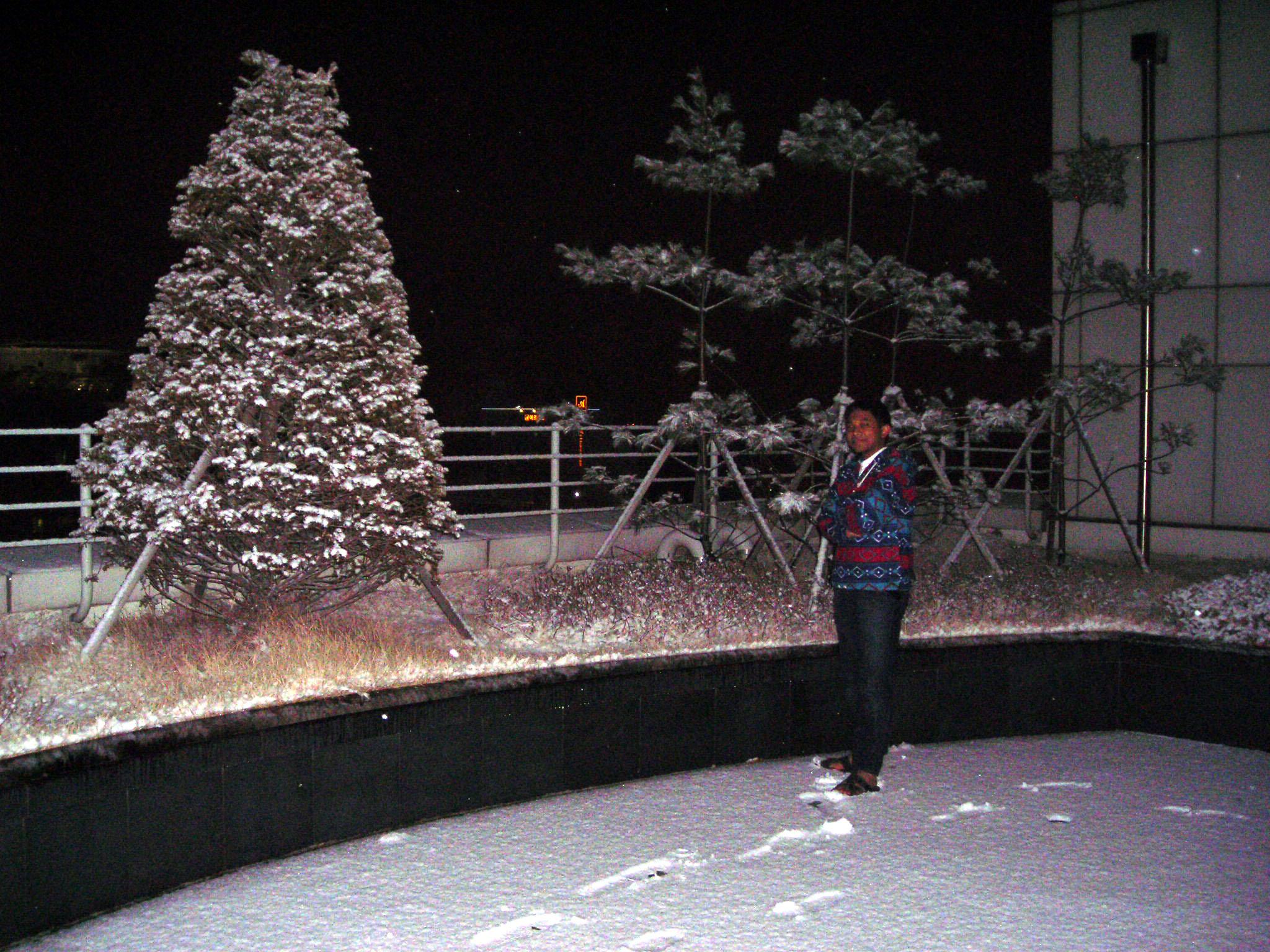 Musim dingin ibarat di dunia es atau arena ice skating, dinginnya