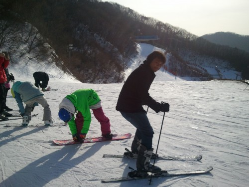 Finally, ski!